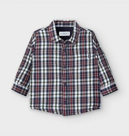 Mayoral Plaid Long Sleeved Shirt in Blue