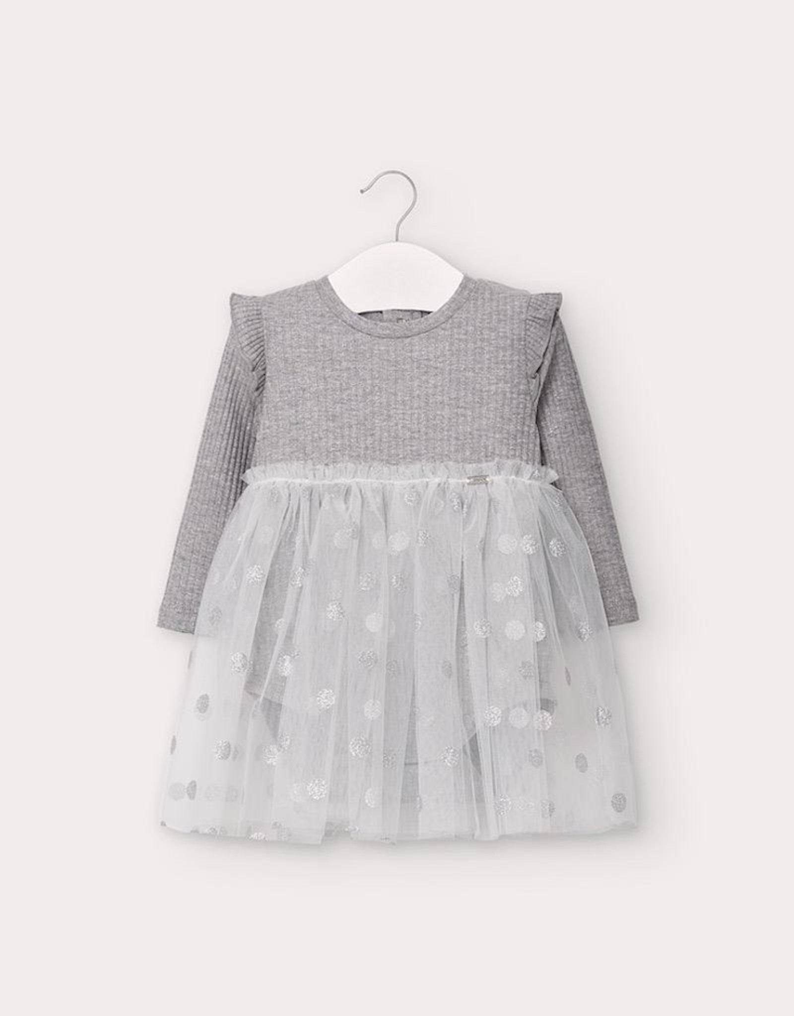 Mayoral Silver Tulle Dress