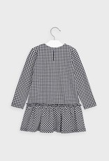 Mayoral Houndstooth Dress in Navy Blue