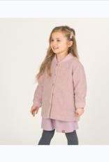 Dusty Pink Faux-Sherpa Jacket for Girls