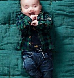 Noppies Kids Rietbron Baby Boy's Long Sleeve Shirt in Dark Sapphire