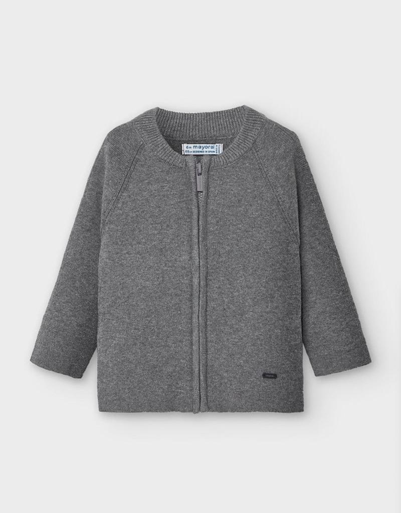 Mayoral Woven Knit Jacket in Cement