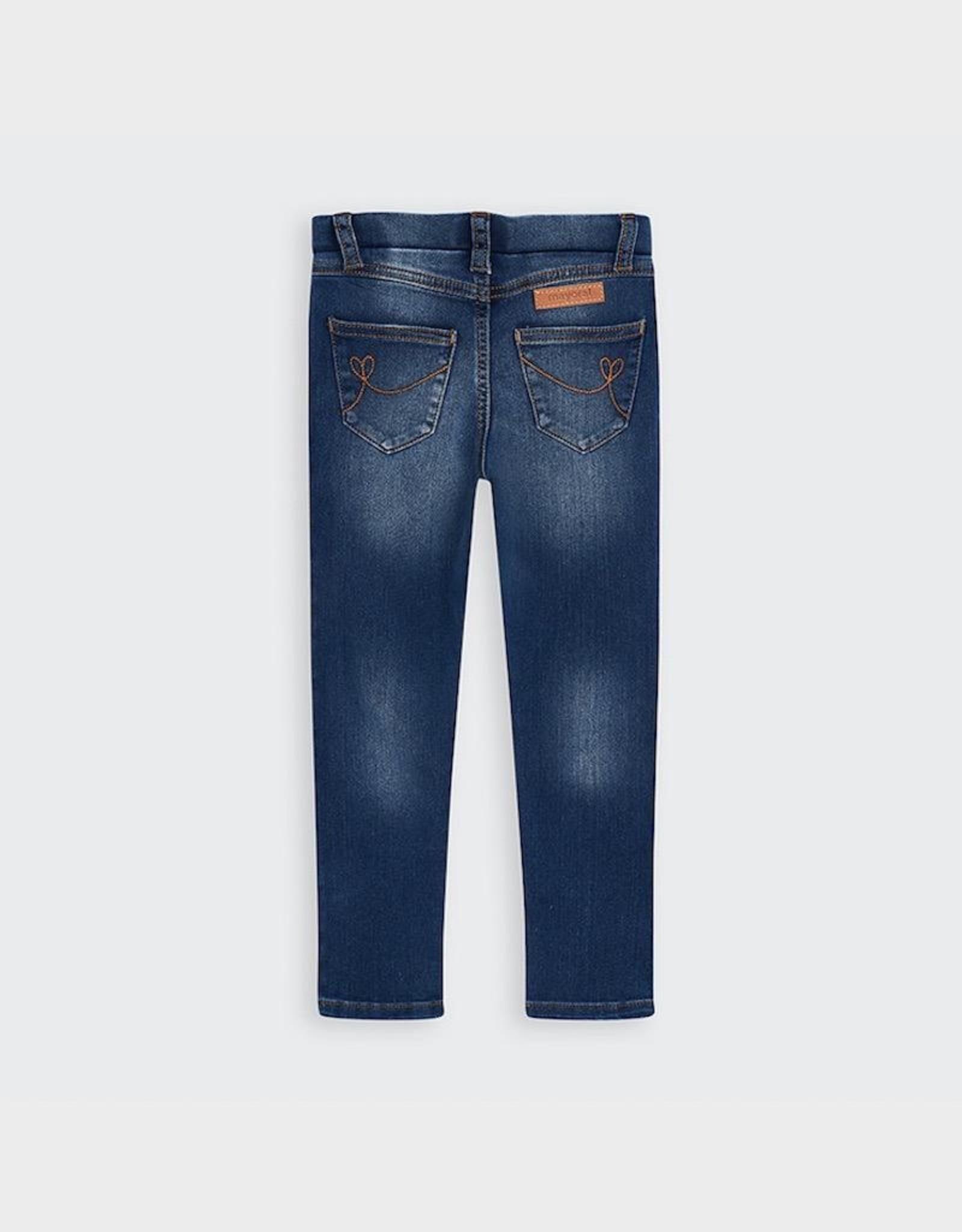 Mayoral Long Girl's Denim Pants in Basic denim