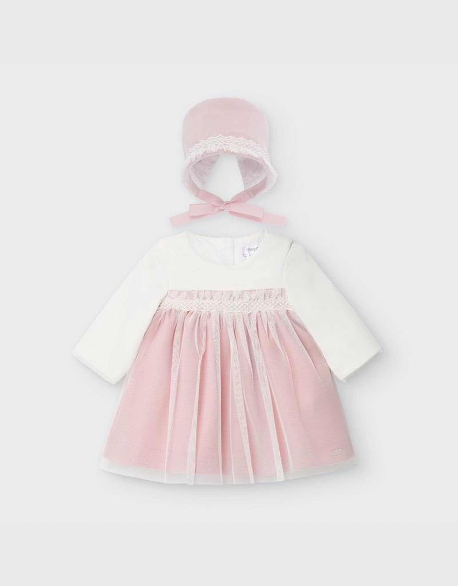 Mayoral Ceremony Dress Baby Girl Set in Candy