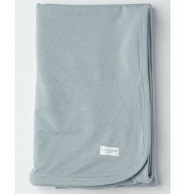 Loulou Lollipop Stretch Knit Blanket in TENCEL™ - Slate - OS