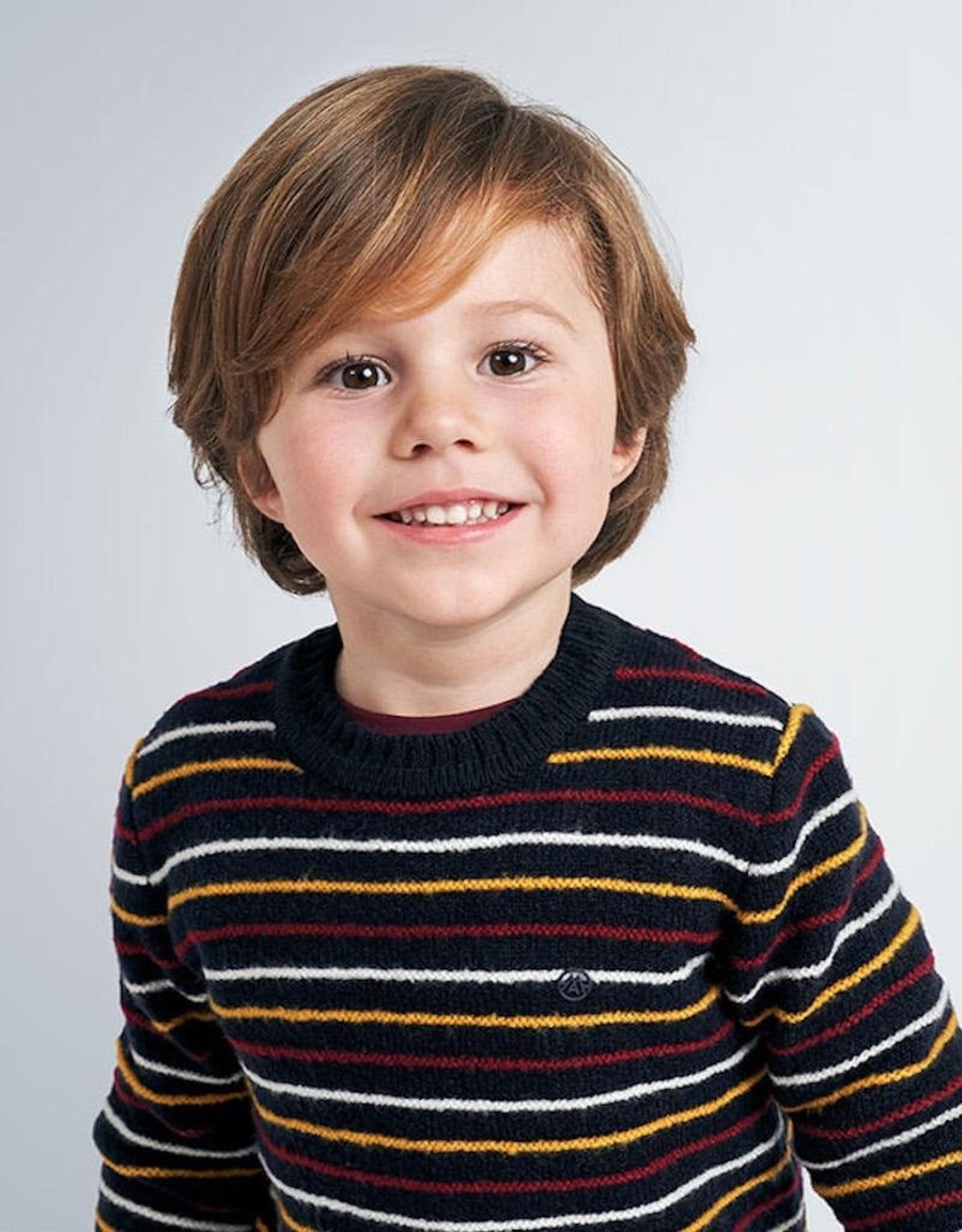 Mayoral Navy Blue StripedSweater