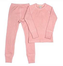 Rose Waffle Knit Pajama Set