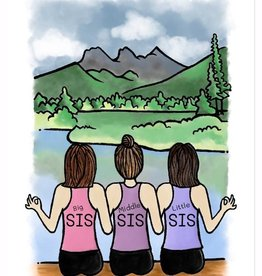 littlewondersyoga 3 Sisters Yoga Cards For Kids