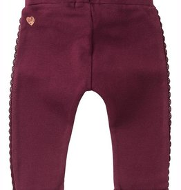 Noppies Kids Soekmekaar Baby Girl's Slim Fit Pants in Burgundy