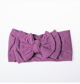 Lox Lion Purple Double Buckle Nylon Headband