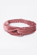 Lox Lion Pink Velvet Twist Bow Headband