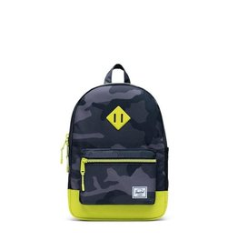 Herschel Supply Co. Herschel Supply, Heritage Backpack | Youth, Night Camo/Lime Punch