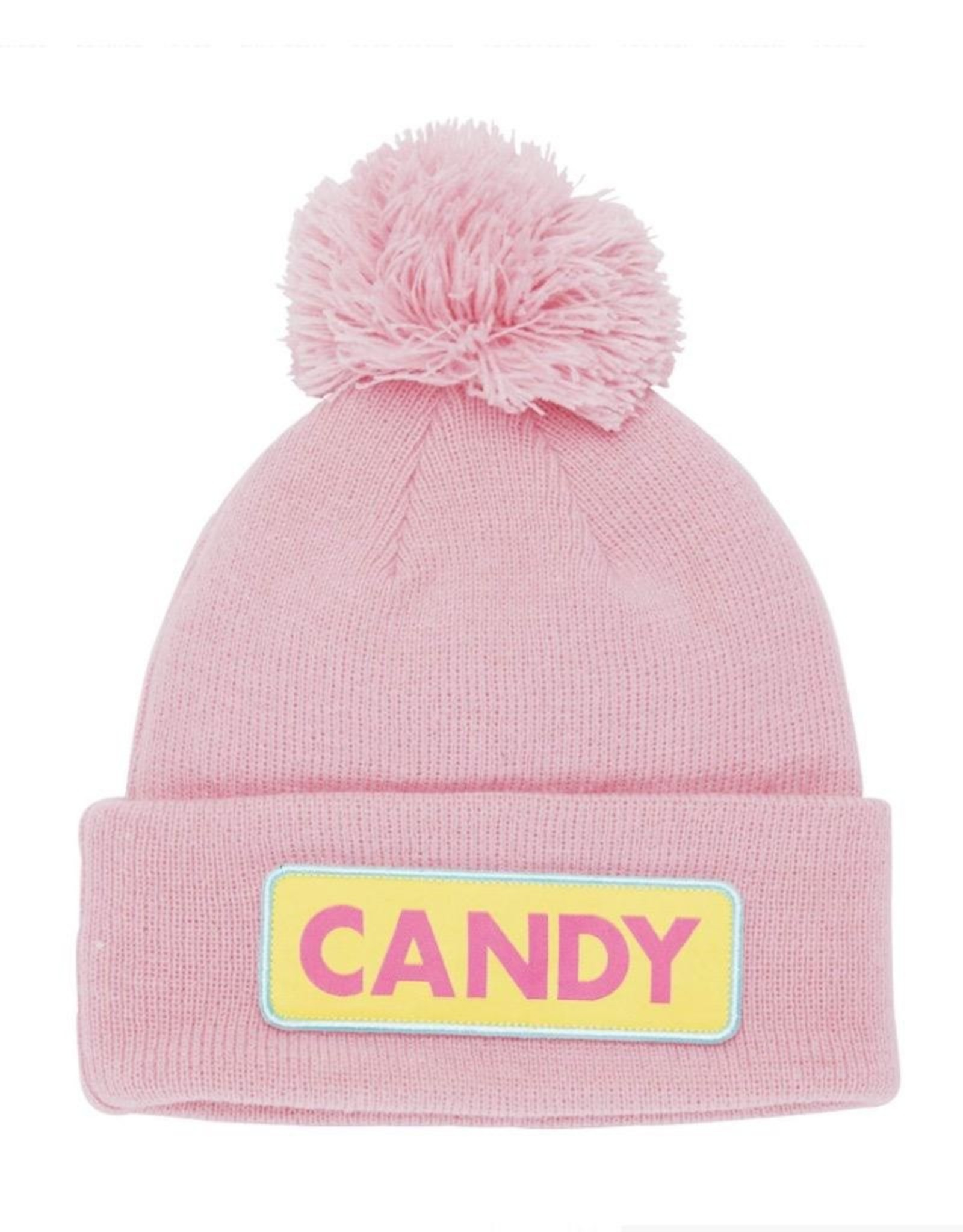 "Coal The Vice Kids ""Candy"" Pom Beanie in Pink"