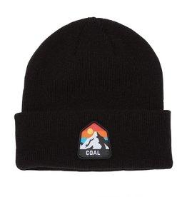 Coal The Peak Kids Cuffed Mountain Beanie in Black