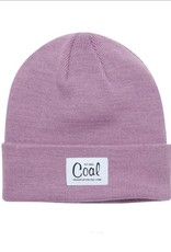 Coal The Mel Recycled Polylana Knit Beanie in Mauve