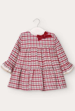Mayoral Houndstooth Baby Girl Dress in Carmine