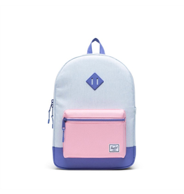 Herschel Supply Co. Herschel Supply, Heritage Backpack | Youth XL, Ballad Blue Pastel Crosshatch/Candy Pink/Dusted Peri, 22L