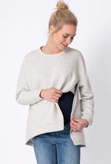 Seraphine Nara, Soft Grey Maternity & Nursing Sweatshirt
