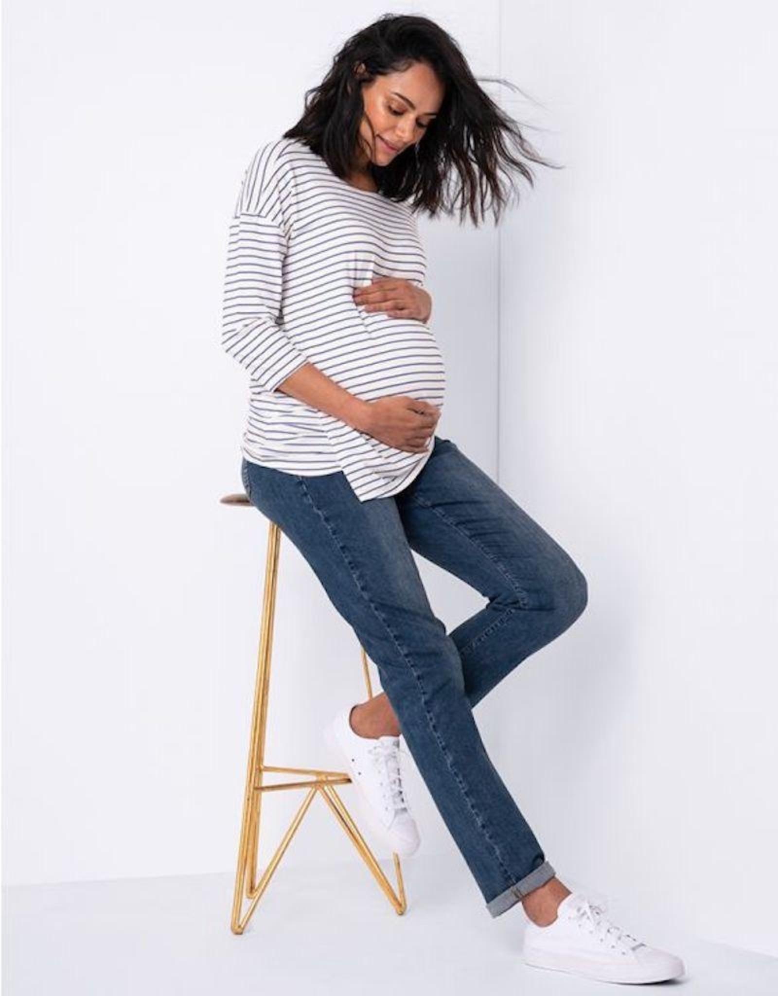 Seraphine Carsen Slim Boyfriend Maternity Jeans