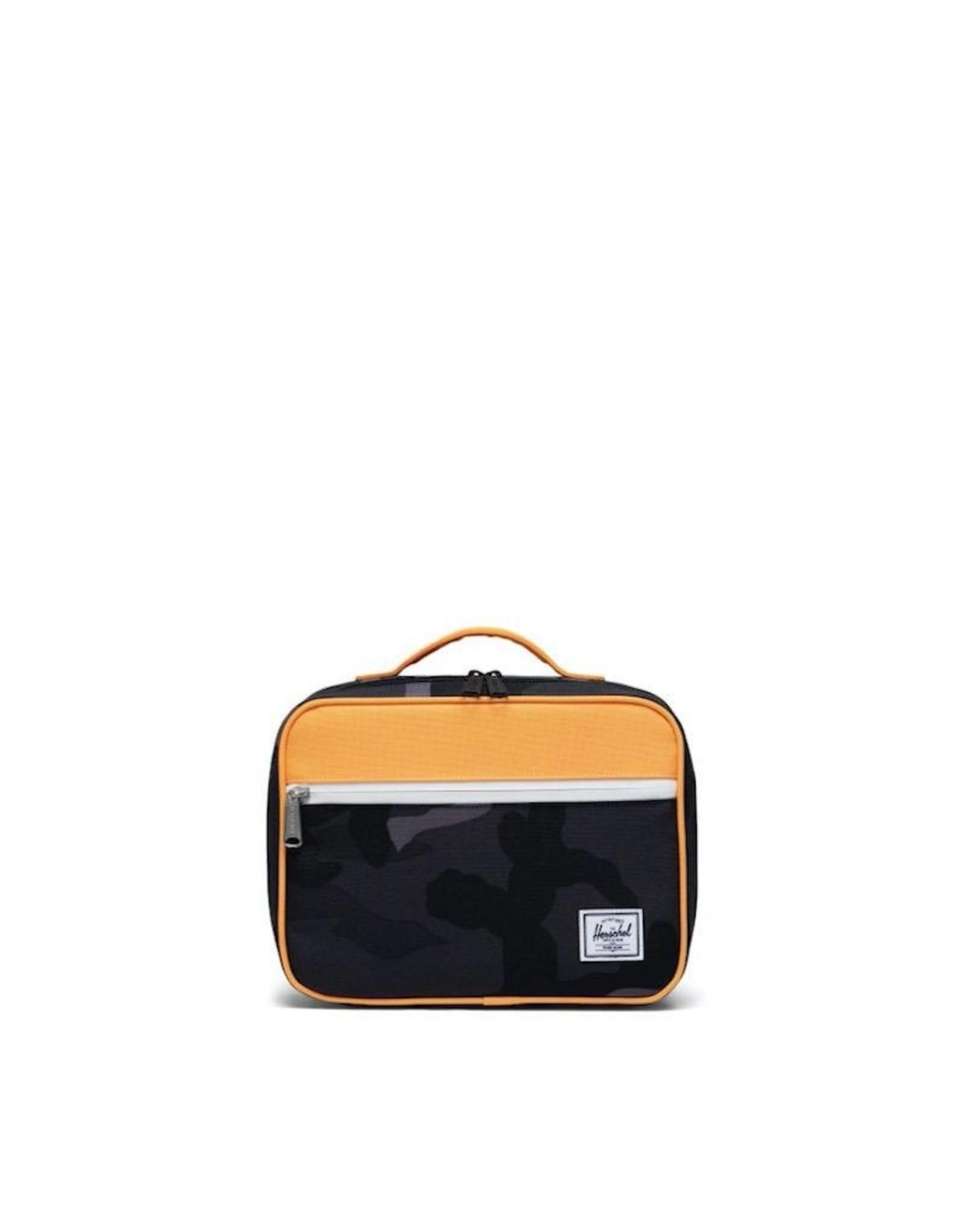 Herschel Supply Co. Popquiz Lunch Bag in Night Camo/Blazing Orange, 5L