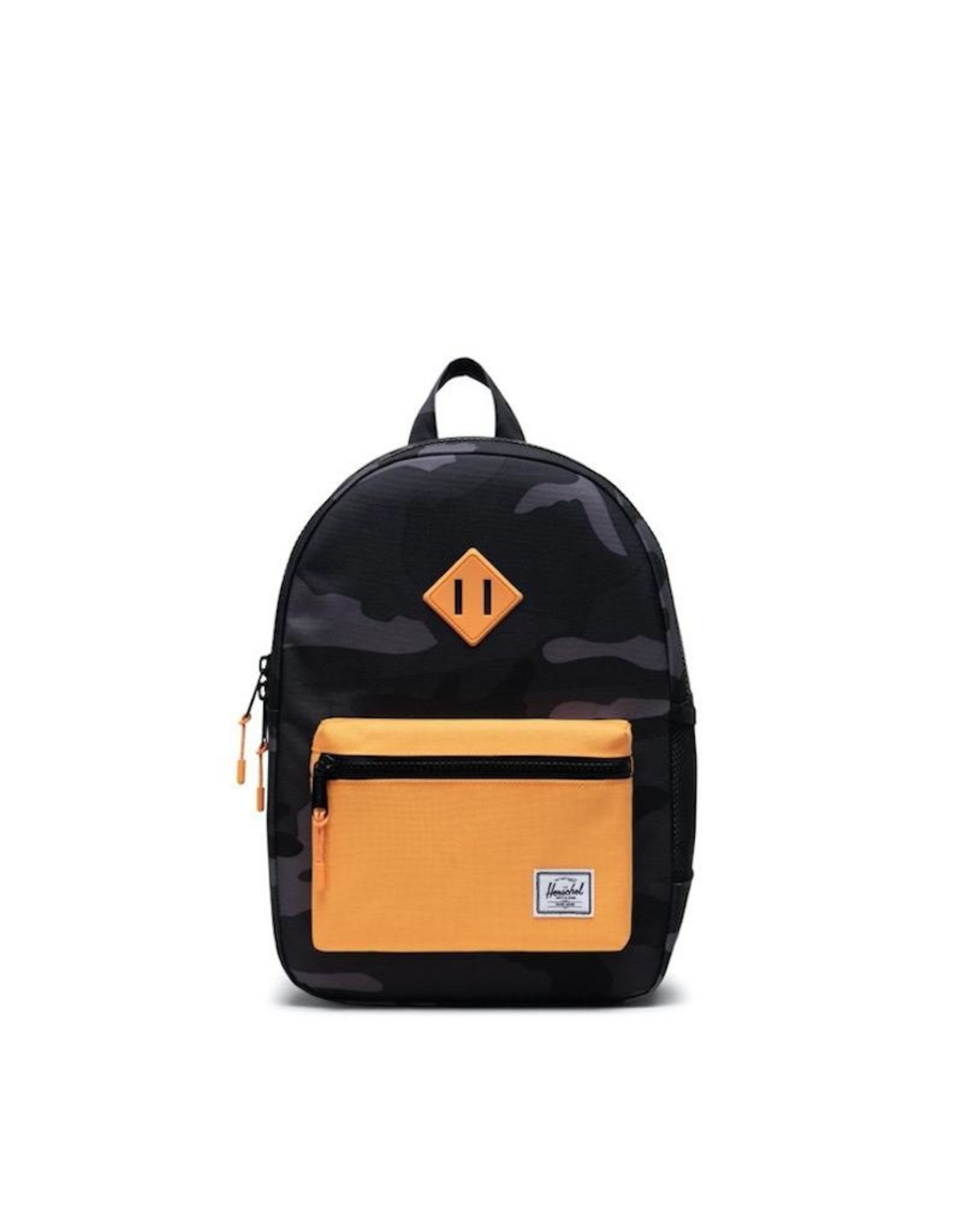 Herschel Supply Co. Heritage Backpack | Youth, Night Camo/Blazing Orange, 16L