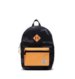 Herschel Supply Co. Heritage Backpack   Youth, Night Camo/Blazing Orange, 16L