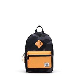 Herschel Supply Co. Heritage Backpack   Kids, Night Camo/Blazing Orange, 9L