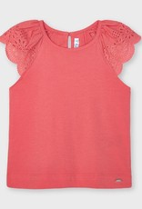 Mayoral Coral Perforated Sleeves S-shirt