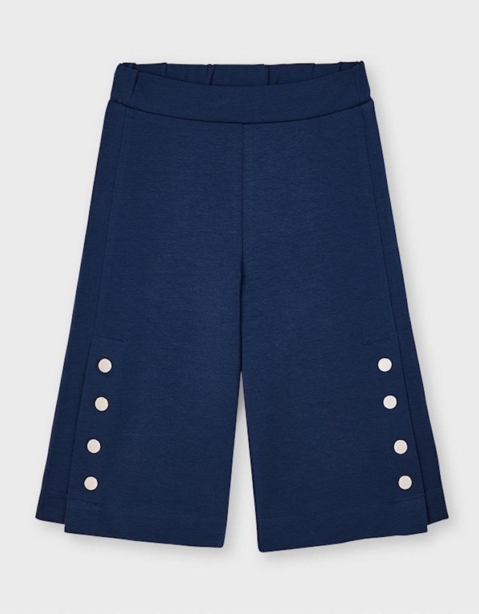 Mayoral Ink Culotte Pants with Side Buttons