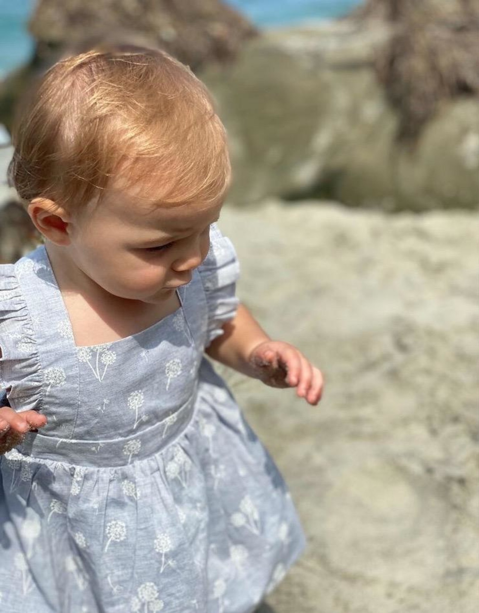 Vignette Maeve Blue Dandelion Dress