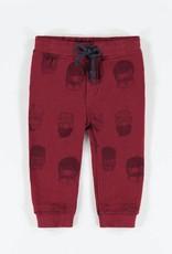 Souris Mini Red Patterned Knit Cotton Pants