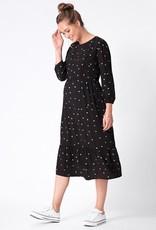 Seraphine Sorina Black Dot Maternity & Nursing Midi Dress
