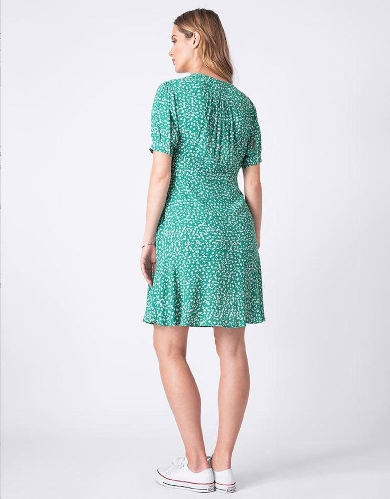 Seraphine Daffodil Green Printed Maternity Dress