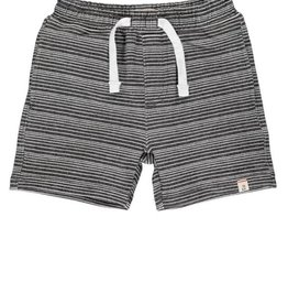 Me & Henry Surf, Black & White Stripe Sweat Shorts