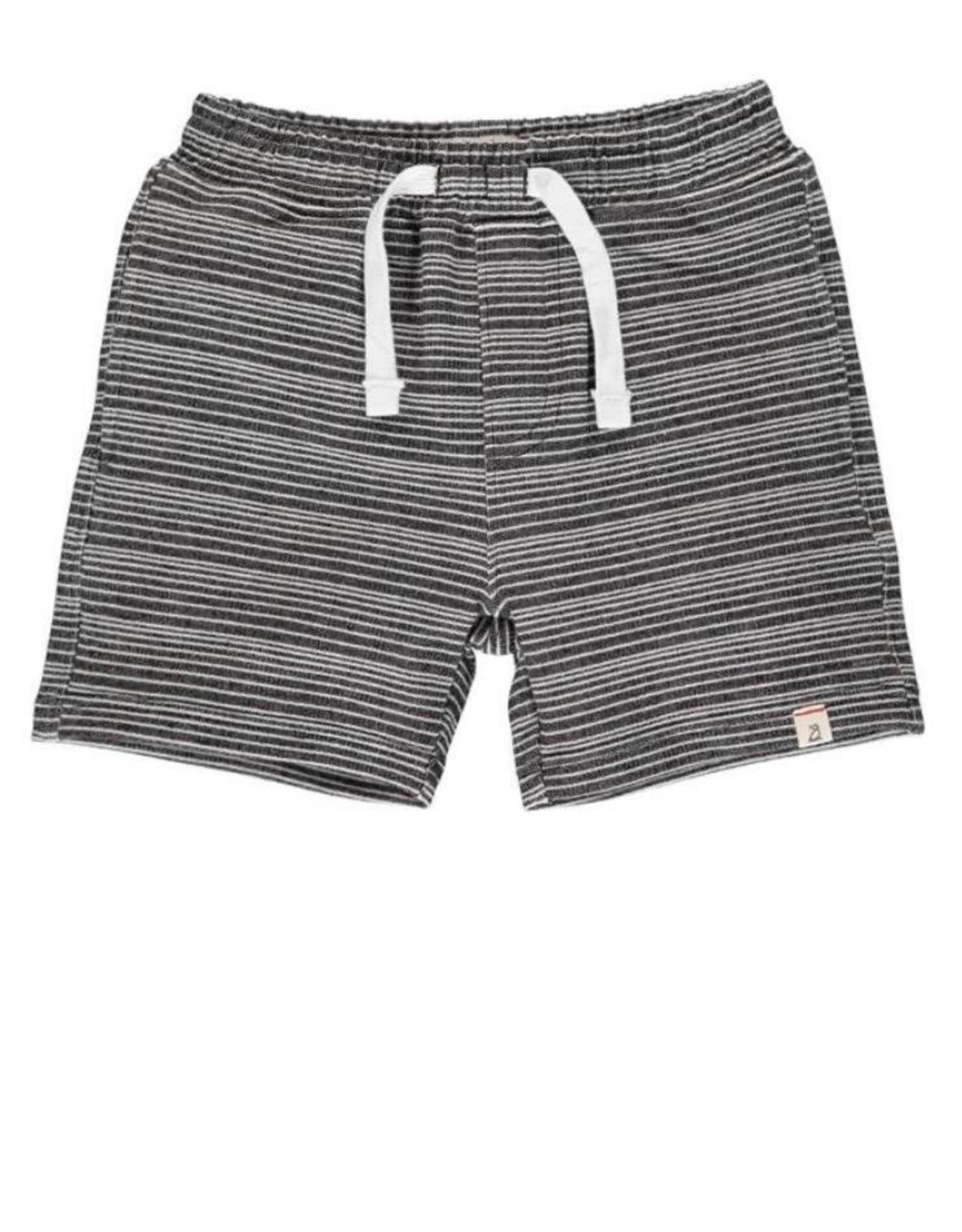 Me & Henry Surf, Black & White Stripe Sweat Shorts