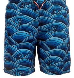 Appaman Wave Pool Print Mid Length Swim Trunks