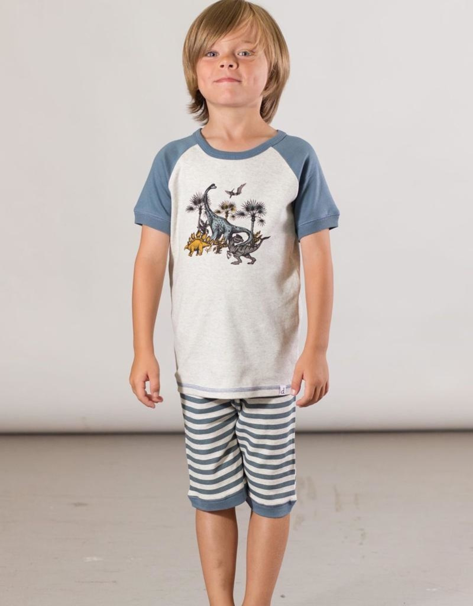 Deux Par Deux Two Pieces Set Pajamas Dinosaur