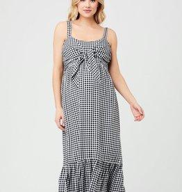 Ripe Maternity Black & White Gingham Nursing Dress