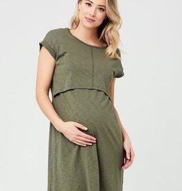 Ripe Maternity Khaki Roxie Nursing Dress