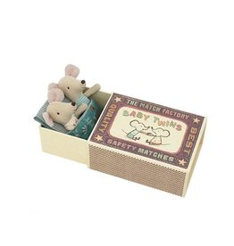 Maileg Baby mice, Twins in matchbox