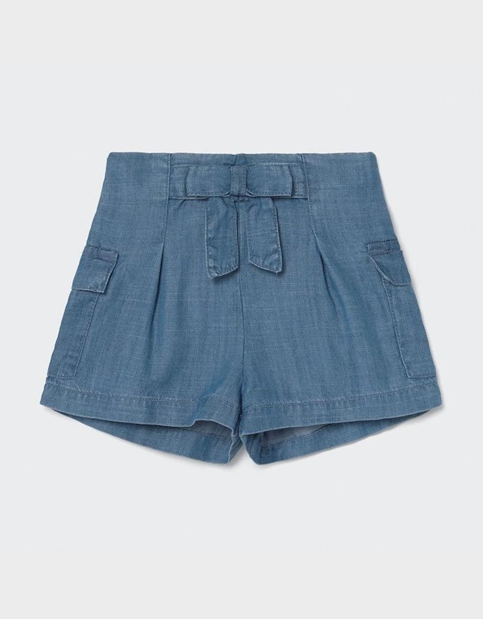 Mayoral Ecofriends Loose Denim Baby Shorts