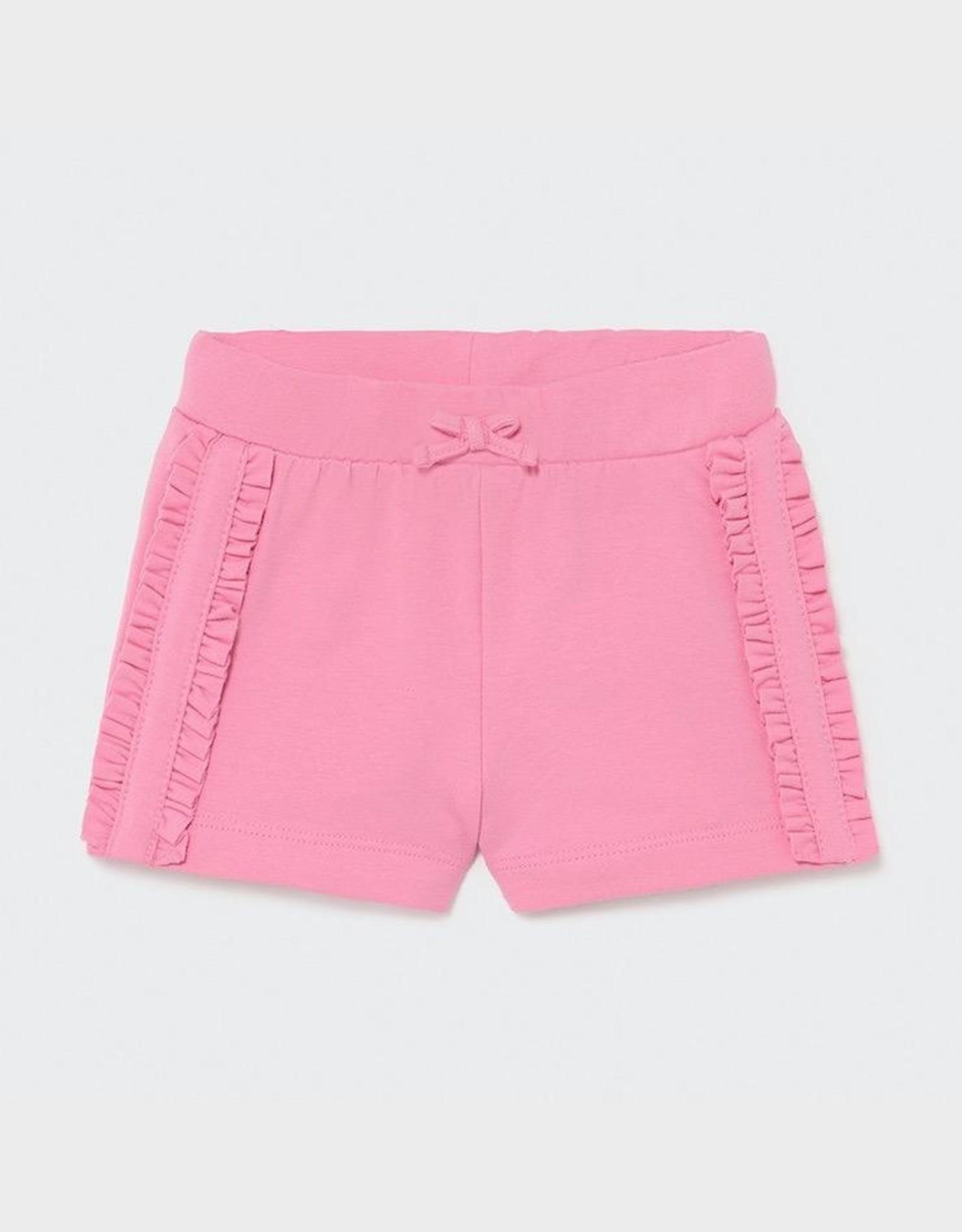 Mayoral Pink Ruffled Baby Shorts