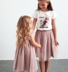Creamie Adobe Rose Tule Skirt