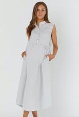 Legoe Heritage Romy Dress White & Navy Stripe