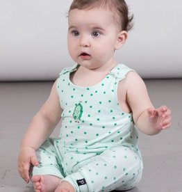 Deux Par Deux Organic Cotton Romper With Pea Print