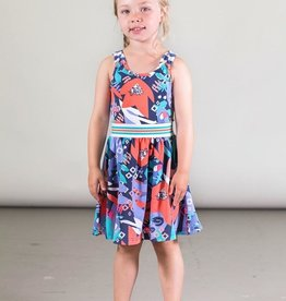 Deux Par Deux Organic Cotton Toucan Printed Dress