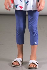 Deux Par Deux Organic Cotton Capri Legging in Blue