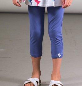 Deux Par Deux Organic Cotton Capri Legging in Blue