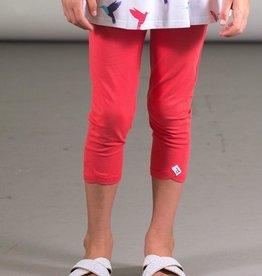 Deux Par Deux Organic Cotton Capri Legging in Red