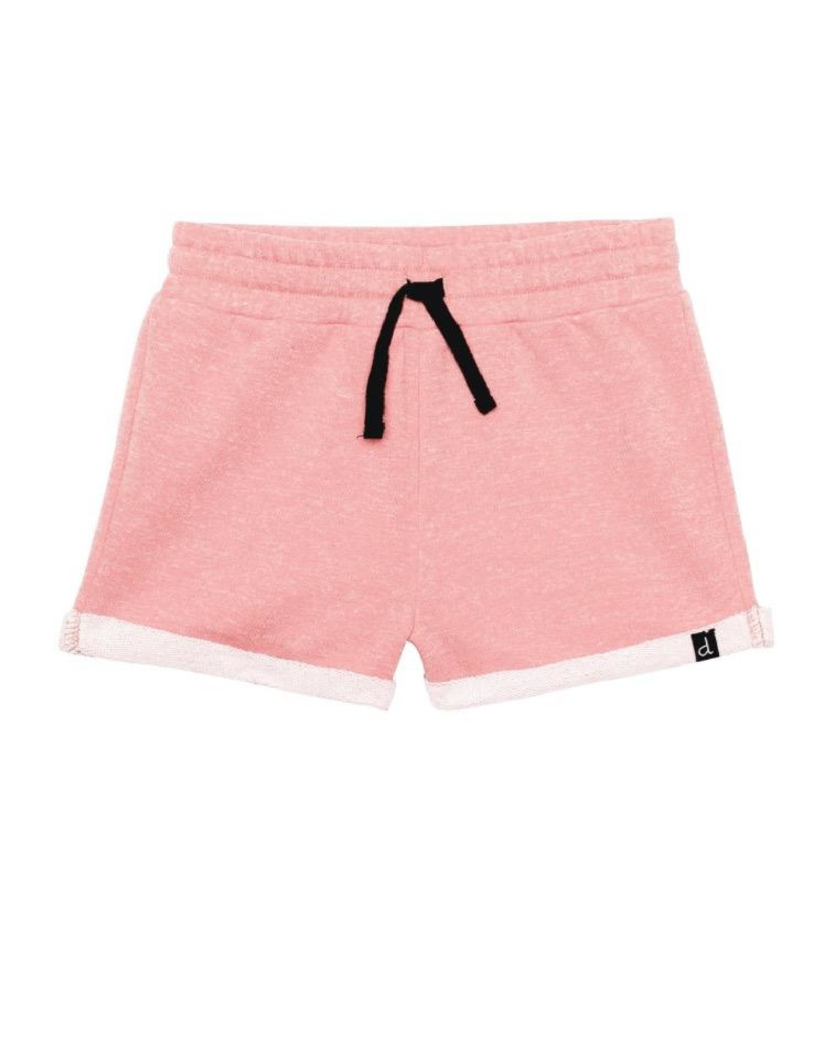 Deux Par Deux French Terry Short in Pink